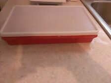Tupperware Low Profile Stacker Bacon Deli Lunch Meat 794-7 Paprika Red