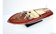 "21"" (53cm) New Riva Aquarama Speed Boat - Beautiful Display Wooden Model Boat #2"