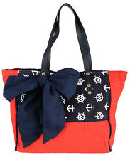 BIG Retro SAILOR Schleife Bow SHOPPER / Tasche - Rot Rockabilly