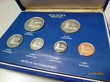 RARE!!! Malaysia 1981 Proof Silver coin set 6 in 1
