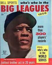 1958 Who's Who in the Big Leagues,Baseball magazine, Willie Mays New York Giants