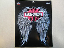 "Harley Davidson New X-Large ""H-D Studded Wings Bar & Shield"" Emblem Patch"
