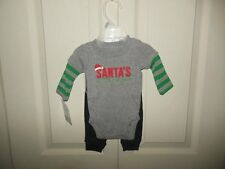 NWT Carters Boys Christmas Outfit Newborn Santas Little Helper