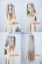 Final Fantasy VII FF7 Sephiroth Anime Cosplay Costume Wig +Free Ship +CAP