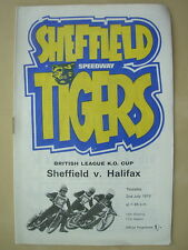 SHEFFIELD v HALIFAX LEAGUE K.O. CUP 1970 SPEEDWAY PROGRAMME