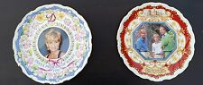 Princess Diana and Prince Charles, William and Harry Commemorative plates