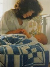 Baby Knitting Pattern Vintage Cot Cover/Blanket Chunky Wool So Quick To Knit