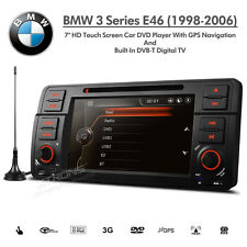 "BMW 3 Series E46 7"" HD Double Din SatNav Car DVD USB Aux Stereo with Digital TV"