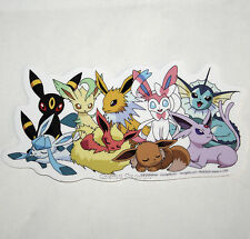 "Pokemon GO EEVEE Evolutions ""Sleepy"" Diecut Vinyl Wall STICKER Nintendo NEW"
