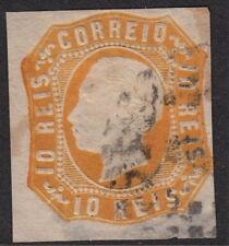 PORTUGAL:1863 King Luis  10 reis orange-yellow die I SG 29 used