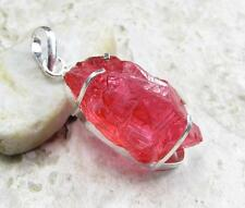 925 Sterling Silver Overlay PENDANT Jewelry   RED ROUGH QUARTZ 2 in M25-052