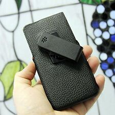 For Blackberry Z30 PU Leather Vertical Swivel Holster Pouch Case Cover Black