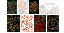 The Colorful Flower Scratch Book For Adult  Rose Pen Hobby DIY Art Gift