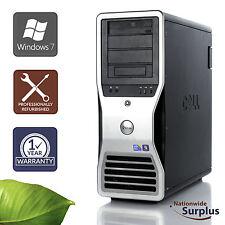 Dell T7500 Workstation Xeon X5570 2.93GHz 8GB 1TB Win 7 Pro 1 Yr Wty