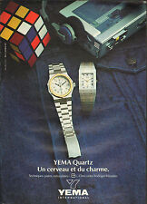 Publicité Advertising 1981  Montre YEMA  Quartz