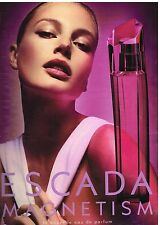 Publicité Advertising 2004 Eau de Toilette  Escada Magnetism