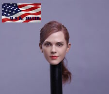 "1/6 Emma Watson Head Sculpt Harry Potter Hermione Fit 12"" Hot Toys Phicen Figure"
