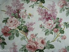 "SANDERSON CURTAIN FABRIC DESIGN ""Sorilla"" 3.5 METRES PINK & LILAC (350 CM)"