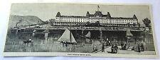 1886 magazine engraving~ FORT WILLIAM HENRY HOTEL, Sailing on Lake George- NY