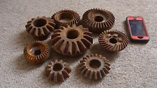Lot of 8 Primitive Vintage Cast Iron Gears Rusty Machine Age Steampunk Wall Art
