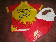 SC PEDALE UBOLDESE NEW BIKE ITALIAN CYCLING JERSEY & BIB SHORTS [L]