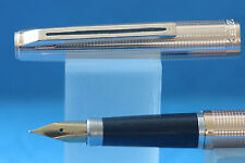 Vintage Wing Sung No. 220 Rose Gold Geometric Fine Fountain Pen