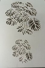 Philodendron plant Mylar Reusable Stencil Airbrush Painting Art Craft DIY