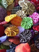 30 1 1/2 inch assorted lovely selection of fabric yo yos