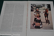 1932 magazine article, HUNGARY, history, people, color photos