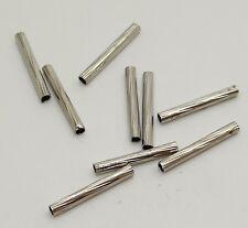 20 tubes intercalaires en métal couleur platine 1,5 cm perle,apprêt-pir122