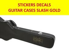 SLASH GUNS N'ROSES GOLD STICKER GUITAR CASES VISIT MY STORE FOR CUSTOM GUITARS