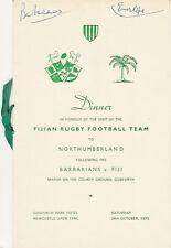 Bárbaros V Fiji 1970 Rugby cena menú Tarjeta