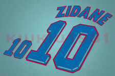 France Zidane #10 World Cup 1998 Awaykit Nameset Printing