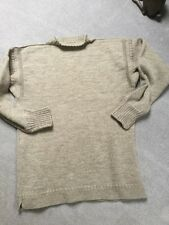Le Tricoteur Guernsey made oatmeal crew neck fishermans jumper jersey S/38""