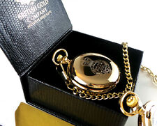 GRENADIER GUARDS POCKET WATCH and CHAIN 24K Gold Clad ARMY MILITARY  Luxury Gift