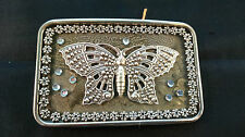 HAND CRAFTED MULTI ORNAMENTED BELT BUCKLE BUTTERFLY DESIGN