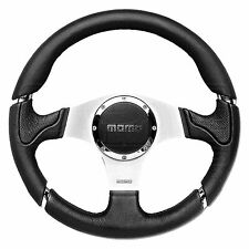 MOMO Millenium Steering Wheel - Leather - Black Inserts - 350mm