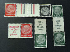 "GERMANY,GERMANIA D.REICH Zusammendruck 1933 ""HINDENBURG"" 4 Valori MINT No GUM"