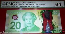 LOW SERIAL NUMBER 445    $20,2012 BANK OF CANADA  ,PMG64.