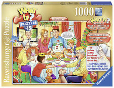 RAVENSBURGER CHRISTMAS PUZZLE*1000 TEILE*WHAT IF? NR.15 CHRISTMAS DAY*RARITÄT