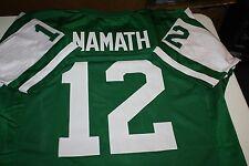 NEW YORK JETS QB JOE NAMATH #12 CUSTOM JERSEY SIZE XLG SUPER BOWL III CHAMPS