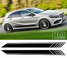 Mercedes 2017 Black Edition Style Side Stripe Door Graphics - A Class, AMG, A45