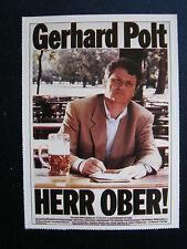 Filmplakatkarte cinema  Herr Ober !  Gerhard Polt, Christiane Hörbiger
