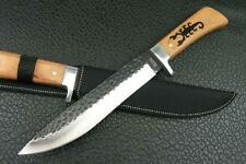 """8.5"""" Wood Handle Jungle Survival Bowie Hunting Knife H02"""
