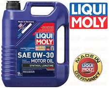 Liqui Moly 0W-30 5-Liter Full Synthetic Motor Oil; Long Life