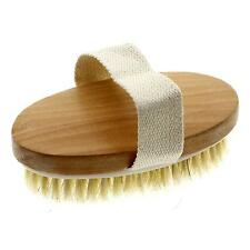 Chic Dry Skin Body Natural Bristle Soft Bath Brush Functional Relaxing Massager