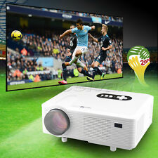 "New 3000 Lumens HD LED Home Theater Native 1280x800 1080p LCD projector 260"" UK"