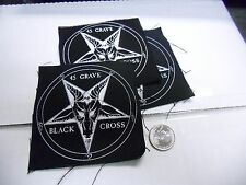 45 Grave Cloth SEW ON EMBROIDERED PATCH NEW goth punk