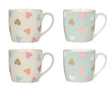 Lot de 4 mugs confettis porcelaine amour coeur cadeau design CHIC VALENTINES thé