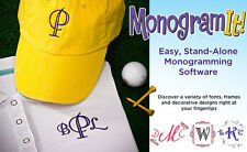 Amazing Designs Monogram It! Embroidery Software 24 Font Styles Free Shipping